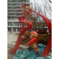 黄石哪吒闹海雕塑 动漫主题卡通人物雕塑商业装饰摆件