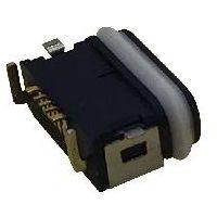 MICRO防水USB 5P母座 防水等级IP68 大电流3A防水麦克母座 前贴后插带防水圈