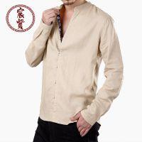 夏季新款原创中国民族风男士衬衫中式复古居士服男装男青年唐装