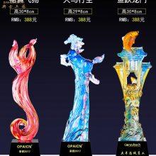 上海琉璃马纪念品, 企业代理商奖牌,马术比赛奖品,琉璃工艺品定制