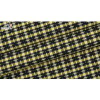 广州色织梭织提花格子面料F06072