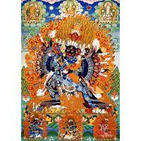 铸铜藏佛像批发 1米大威德金刚雕塑 密宗佛像禅宗佛