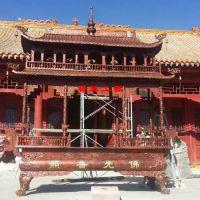 供应八龙柱两层生铁香炉 禅寺佛堂祠堂景区户外香炉