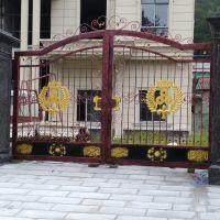 定制太湖县岳西县艺家铁艺大门欧式锻打庭院门进户门铁门金属不锈钢门15997386788