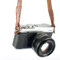 供应跨境真皮肩带富士微单 徕卡旁轴 佳能索尼数码相机背带 挂绳