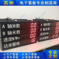 LED电子看板工厂车间流水线生产管理看板产量计数器悬挂式LED显示屏