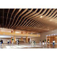专业生产直销工程装饰U槽铝合金天花吊顶 热转印工艺木纹铝方通 型材铝方通