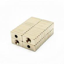 耀恒 厂家生产12*3-3/6钕铁硼圆形打孔磁铁沉孔 直孔镀镍防生锈高性能