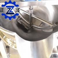 凉粉炒锅 豌豆海草凉粉熬制设备 牛肉辣酱黄豆酱炒锅 正泽机械