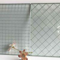 高透型 消防通道夹铁丝玻璃隔断 铁丝网玻璃