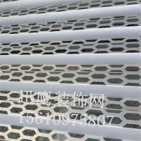现代奥迪专用装饰网 六角型幕墙装饰网生产 青岛市奥迪4S店外墙立体穿孔板