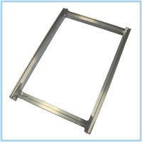 北京手工丝印铝网框 跑台印花框 带槽安装T铁把手