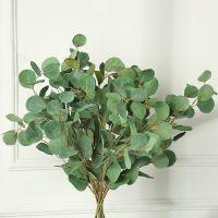法国尤加利新款仿真盆栽植物 婚庆家居植物装饰仿真花卉厂家批发