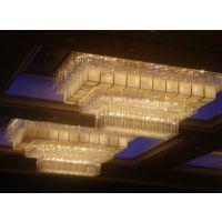 酒店灯具定制 水晶工程灯 异型吊灯 艺术造型灯