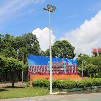 珠海市篮球场灯用多大 标准篮球场灯光如何布置 柏克供应球场施工方案