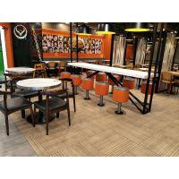 运城市实木桌椅,现代中式西餐厅咖啡厅面馆实木牛角椅