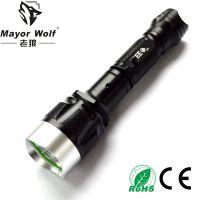 厂家批发 led充电手电筒 户外照明防身车载车用强光手电筒