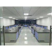 上海悦贸实验室工作台 学生实验桌 钢木结构仪器台 带活动柜工作台 原产地货源