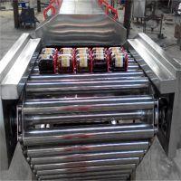 4000型不锈钢链板提升玉米粒清洗设备、精品刀鱼高温油炸流水线、大虾漂烫蒸煮设备