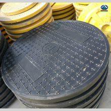 供应江西赣州圆形双层防水井盖 直径900超强承重井盖 树脂加油站井圈 华强