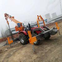 建筑施工电线杆打孔机 钻地挖坑机 挖坑开沟一体机 流畅作业 山东找润沃