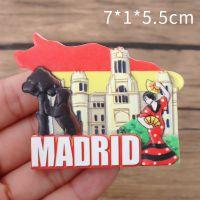 悠然见文创 原创马德里旅游纪念品3D立体工艺品可定制树脂冰箱贴
