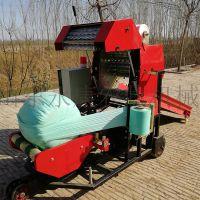 全自动打捆机养殖专用玉米秸秆青贮粉碎打捆机