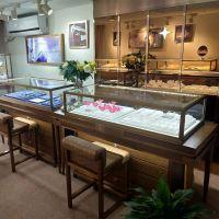 杭州展柜厂加工定制实木组装珠宝展示柜珠宝柜台