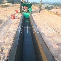 农田改造排水渠滑模摊铺成型机渠道衬砌机中复水利工程设备