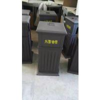 湖南供应户外钢木环保垃圾桶果皮箱可印LOGO(方贸F-3001)
