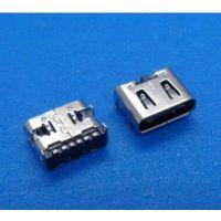 USB移动电源专用 大电流 USB 3.1 Type-C 接口6P贴板连接器