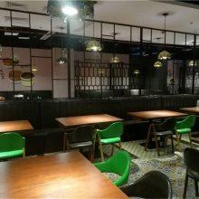 南沙区港式茶餐厅A字铁艺木纹椅子批发