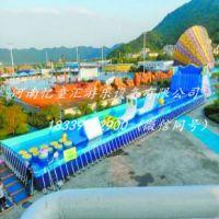 四川广元户外支架水池 大型水上乐园充气滑梯 支架水池价格