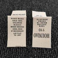 宝顺印刷服装布标定做来样加工东莞厂家直销