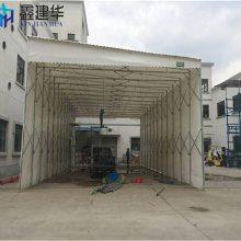 杭州移动雨棚布伸缩推拉蓬家用/西湖区推拉式防雨单层帐篷布
