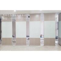 西安厂家会议室超白焗漆玻璃多功能移动隔断