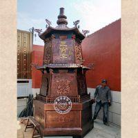 定做广州韶山寺院大型铸铁化宝炉