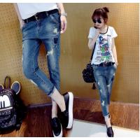广东深圳夏季女式库存服装便宜T恤批发新款女装牛仔裤处理积压牛仔裤