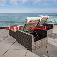 供应卓意林品牌 ZYL-FTZY 084 定制户外海边仿藤躺椅、户外藤躺椅价格