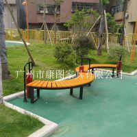 型号1608Y-02 钢木结构户外休闲公园椅