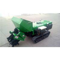 自走式果园施肥开沟机 启航28马力果园施肥机 履带式开沟回填机