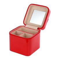 高档首饰盒便携式旅行珠宝首饰盒 戒指盒欧式公主带镜化妆盒批发