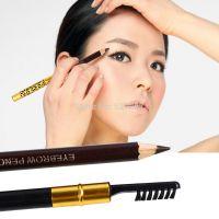 外贸爆款 豹纹眉笔带眉刷 眼线笔 防水双头眉笔 彩妆工具 化妆笔