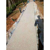 胶粘石地坪施工方案 豫信地坪可以装饰出各种形状和设计的图案