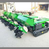 新款果园大棚开沟机 履带式旋耕除草机 启航粉末肥料施肥回填一体机