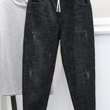 浙江湖州便宜牛仔裤清货库存尾货便宜小脚裤清货杂款牛仔裤清