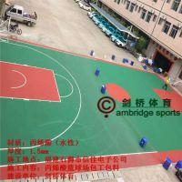 贵州从江篮球场彩色地面铺装 丙烯酸羽毛球场规划 8年来专业承接球场防滑地胶