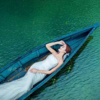 古舟木船GZ-OS-009 欧式两头尖手划木船 婚纱摄影船 旅游观光船 景观装饰船