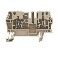 魏德米勒ZDU2.5直通型接线端子, 弹片联接, 2.5 mm², 800 V, 24 A, 深褐
