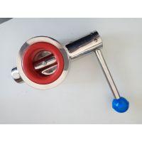 卫生级不锈钢焊接式对夹蝶阀